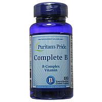 Витамины группы Б,  В комплекс, 100 таблеток, Puritan's Pride