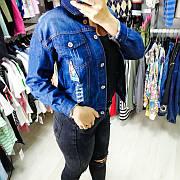 Джинсовая куртка тёмно синяя 548-905