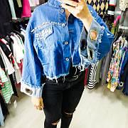 Джинсовая голубая куртка с заклёпками 548-976-1