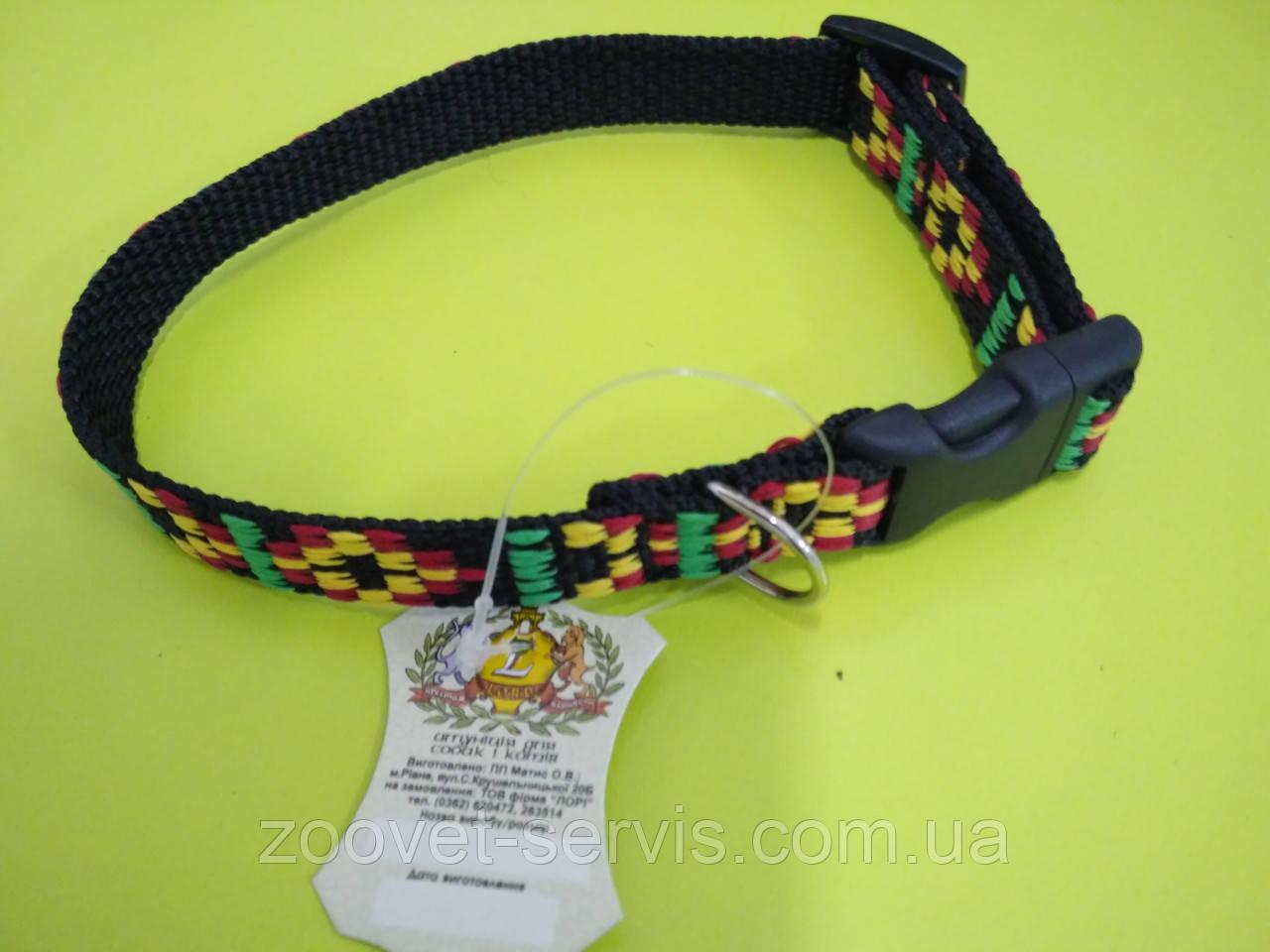 Ошейник капроновый для собак Вышиванка ширина 1.6