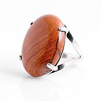 Яшма кирпичная, серебро 925, кольцо, 889КЯ