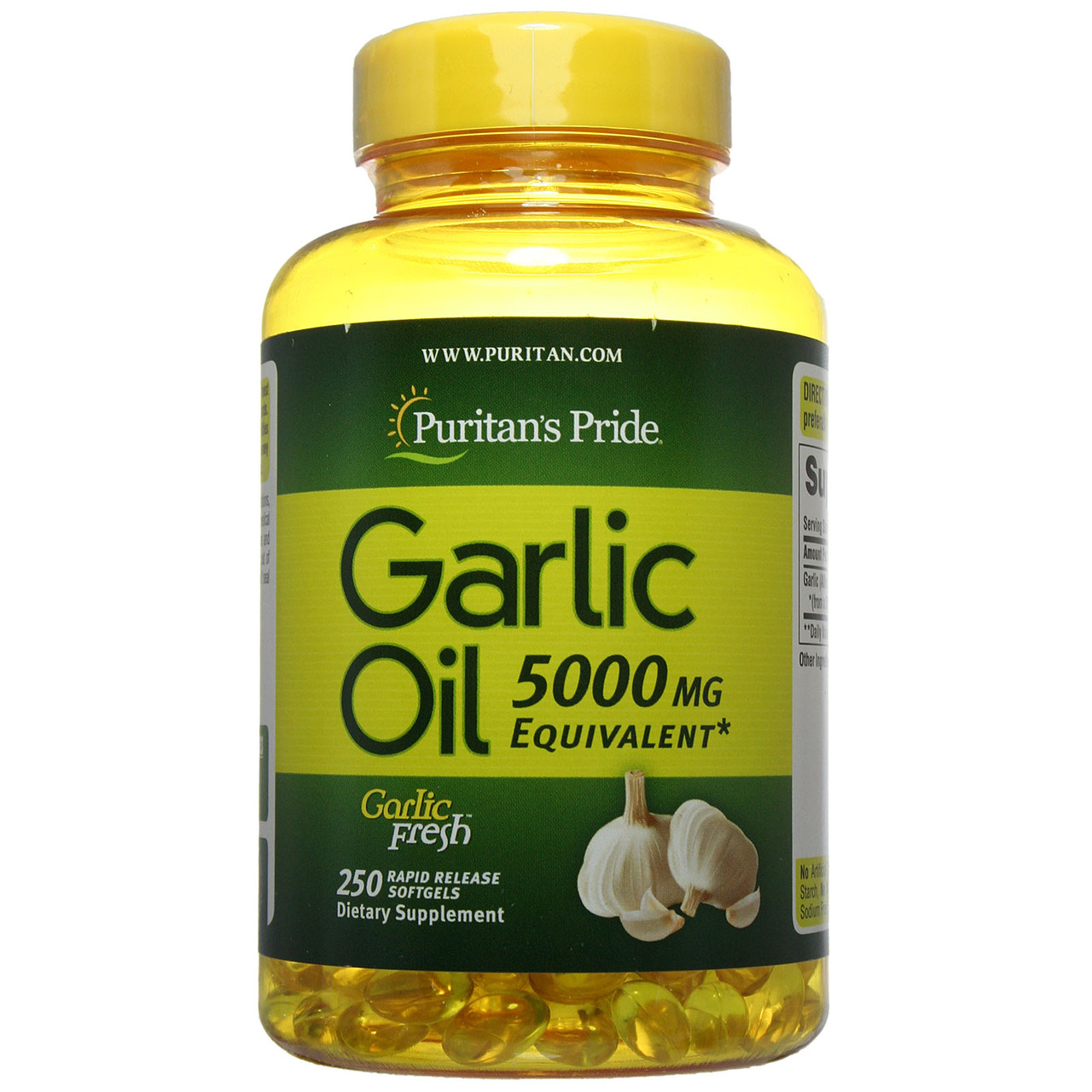 Чесночное масло, Garlic Oil 5000 mg, Puritan's Pride, 250 капсул