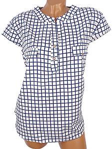 Женская блуза в крупную тонкую клетку