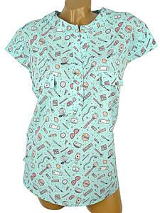 Необычная блуза в веселым рисунком