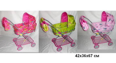 Коляска  для кукол  Melogo 9325 с сеткой и сумочкой, фото 2