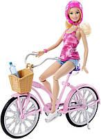 Кукла Барби и гламурный велосипед с аксессуарами Barbie Doll and Barbie Glam Bike DJR54