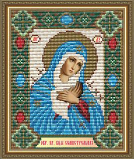Набор алмазной живописи - икона Богородица Семистрельная