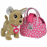 Chi-Chi Love Интерактивная собачка Счастливчик с сумочкой