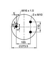 1559946 Пневморесора без стакана 836M DAF 95