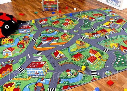 Детский ковролин c дорогами LITTLE VILLAGE, фото 2