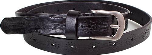 Стильный женский узкий кожаный ремень ETERNO (ЭТЕРНО) E8029