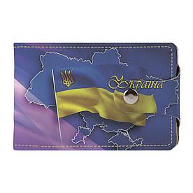 Візитниця 2.0 Fisher Gifts 08 Прапор з картою України (еко-шкіра)