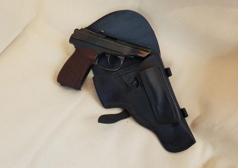 Кожаная штатная кобура на пистолет Макаров