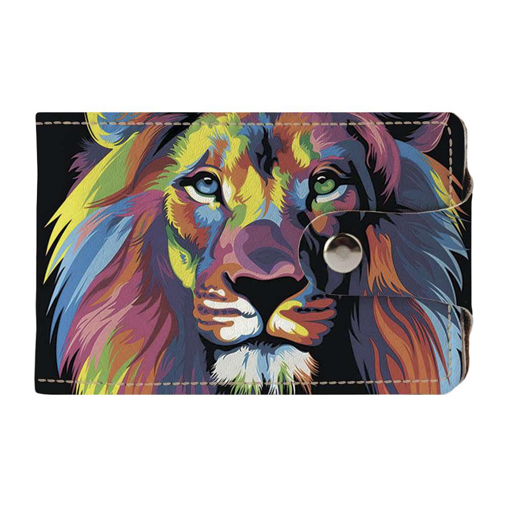 Візитниця v.2.0. Fisher Gifts 15 Кольоровий лев (еко-шкіра)