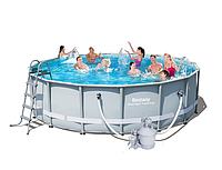 Каркасный бассейн Bestway 56452 Power Steel Frame Pools - 488 x 122 cм