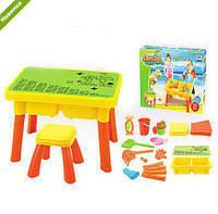 Детский столик-песочница со стульчиком 8806A