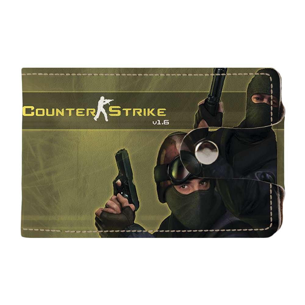 Визитница, картхолдер 2.0 Fisher Gifts 84 Counter-Strike. Team (эко-кожа)