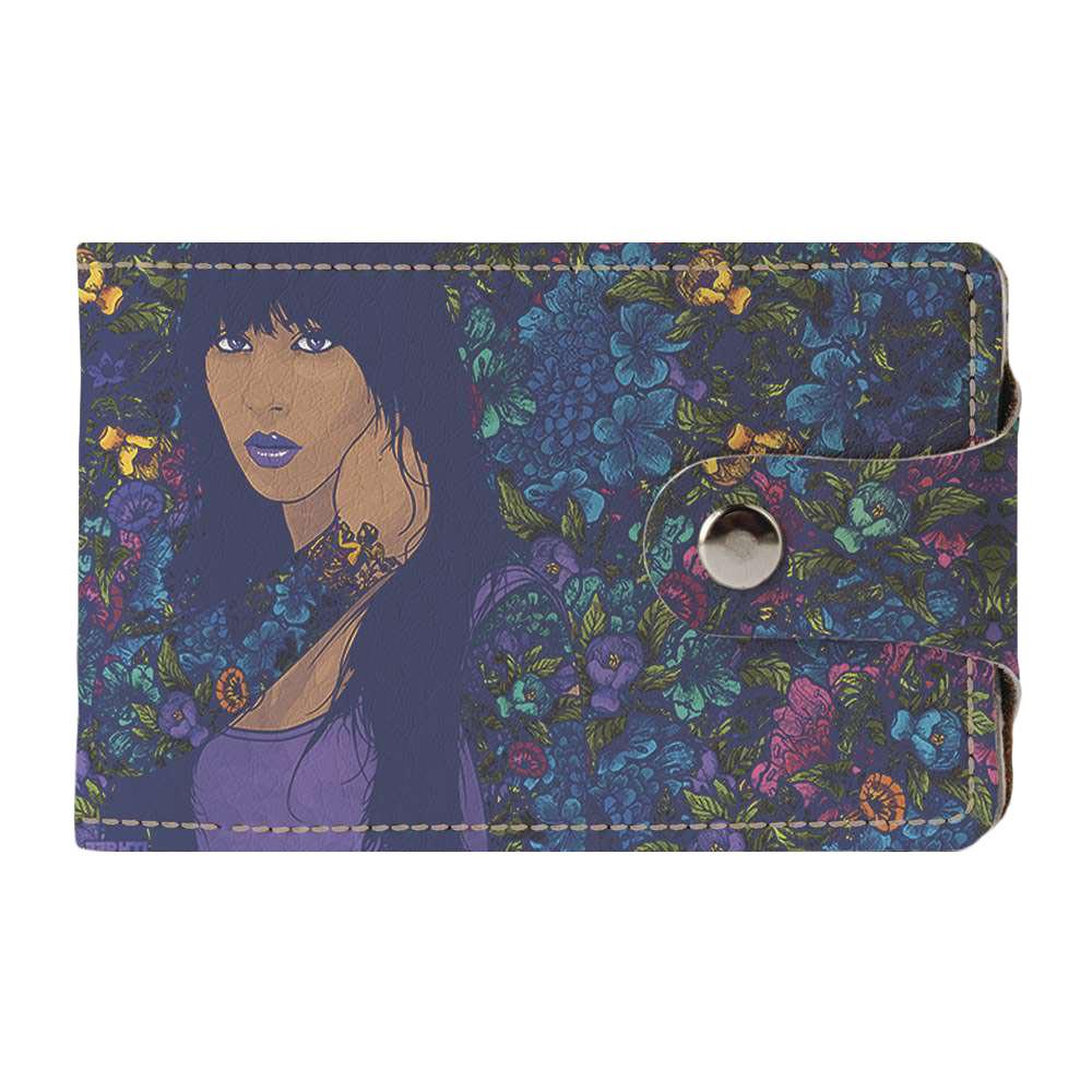 Визитница v.2.0. Fisher Gifts 100 Девушка в цветах (эко-кожа)