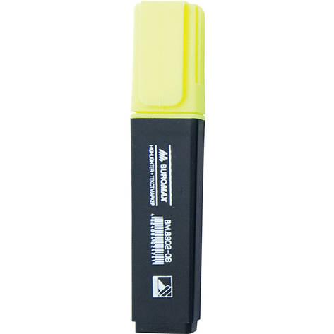 Маркер Buromax BM.8902-08, желтый, 12 шт. в упаковке (Y), фото 2