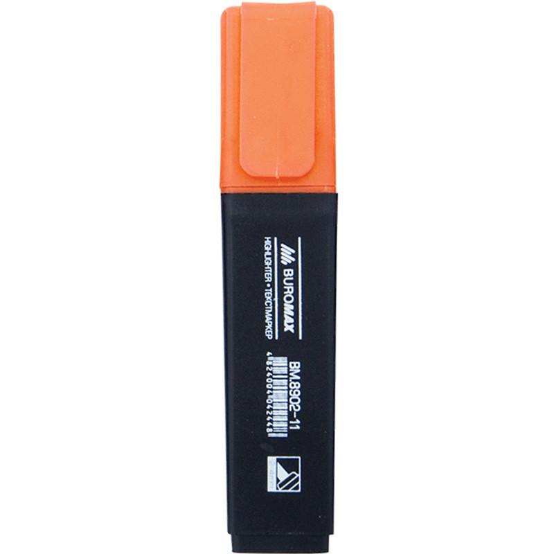 Маркер Buromax BM.8902-11, оранжевый, 12 шт. в упаковке (Y)