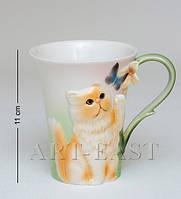 Фарфоровая чайная кружка Персидский кот