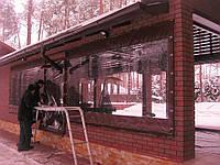 Прозрачные шторы ПВХ с каркасом