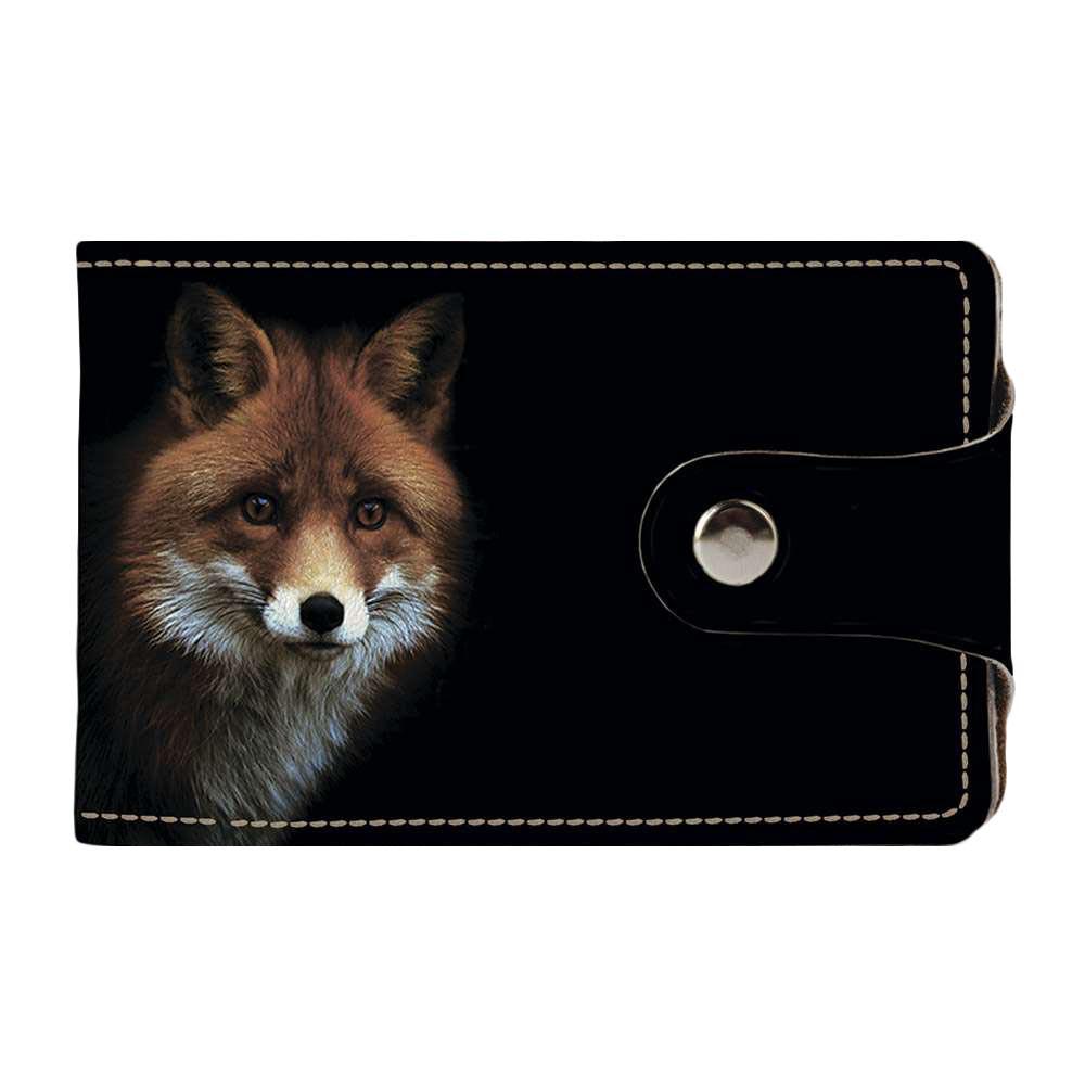 Візитниця v.2.0. Fisher Gifts 186 Лисичка в темряві (еко-шкіра)
