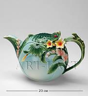 Заварочный чайник фарфоровый Тропики 1000 мл