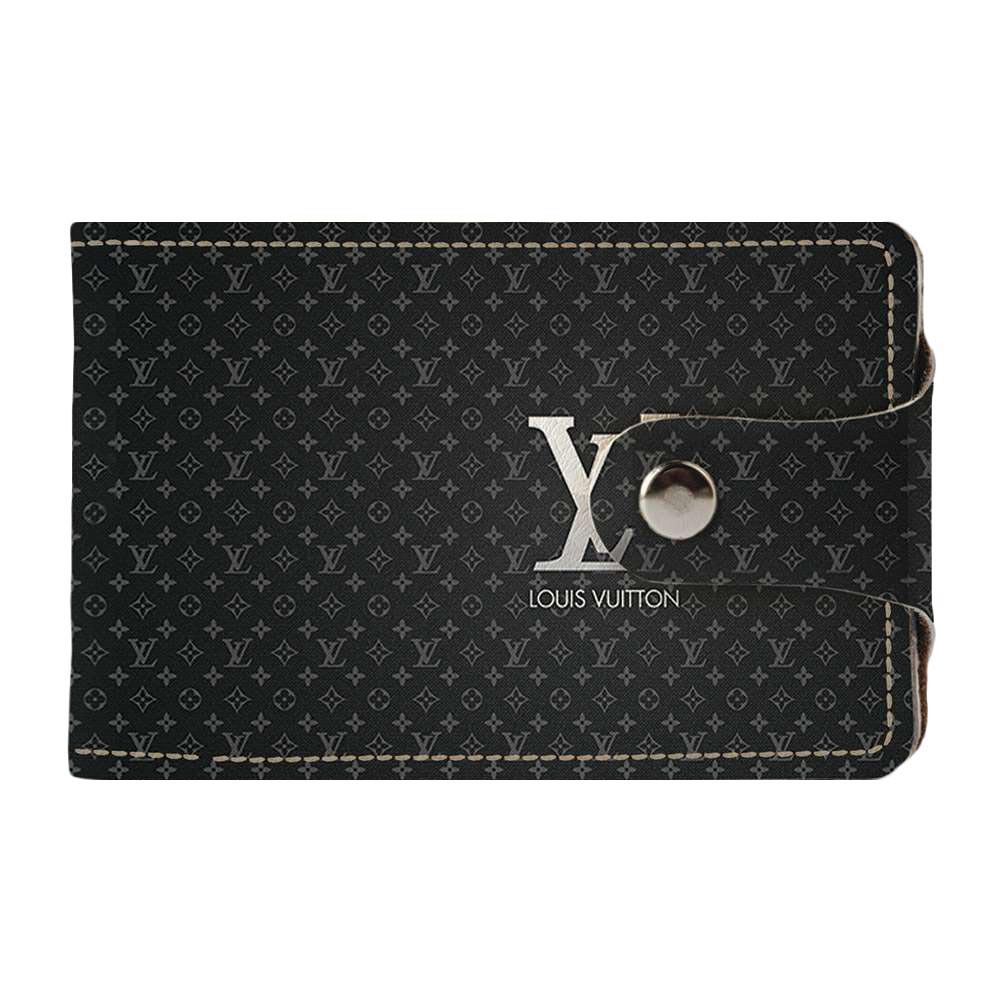 Візитниця v.2.0. Fisher Gifts 215 Lui Vuitton сірий (еко-шкіра)
