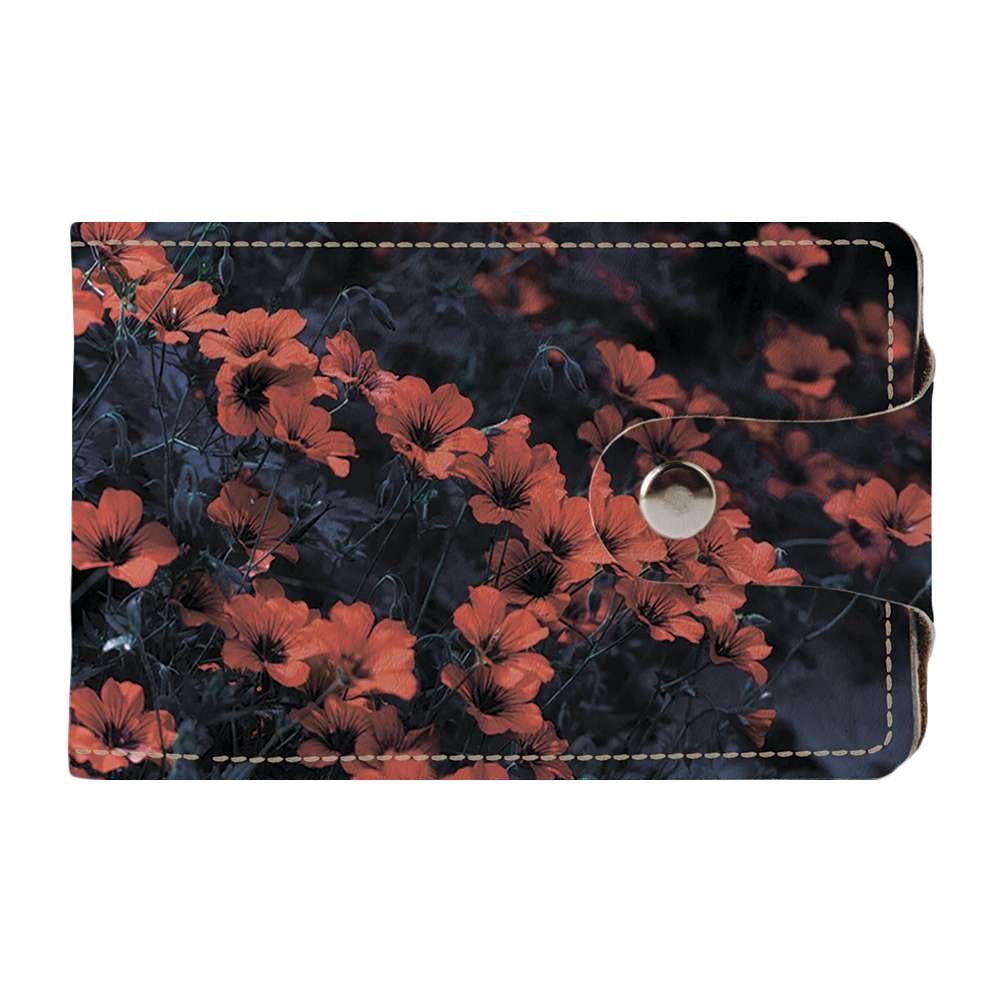 Визитница v.2.0. Fisher Gifts 230 Оранжевые ромашки (эко-кожа)