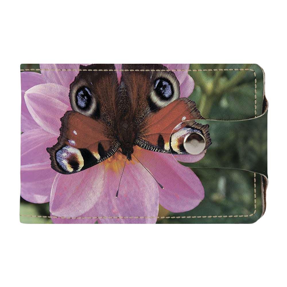 Візитниця v.2.0. Fisher Gifts 235 Метелик на квітці (еко-шкіра)