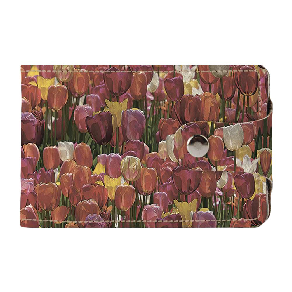 Визитница v.2.0. Fisher Gifts 238 Тюльпановый рай (эко-кожа)