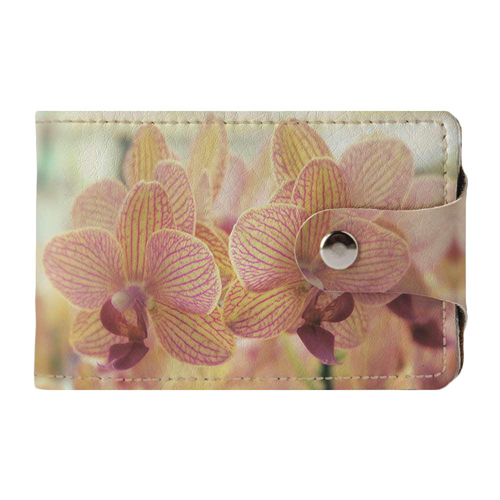 Визитница v.2.0. Fisher Gifts 236 Красивые орхидеи (эко-кожа)
