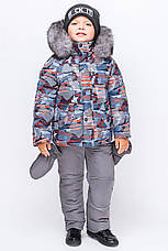 Детский зимний комбинезон для мальчика КМ 1,  остались 92, 98р., фото 3