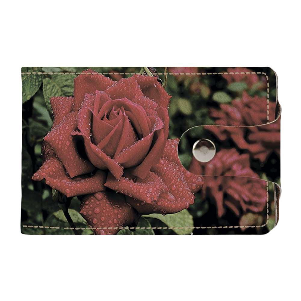 Визитница Fisher Gifts v.2.0. 263 Яркий бутон розы (эко-кожа)