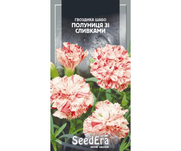 ТМ SeedEra Гвоздика Шабо махровая клубника со сливками двухлетняя 0,2г