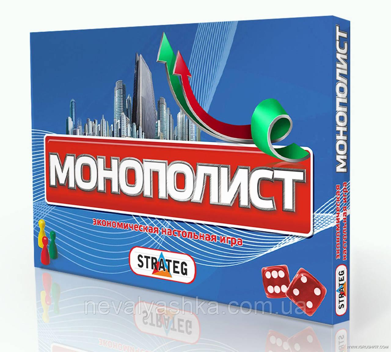 Настольная Игра Монополист Монополия STRATEG, 348, 000511