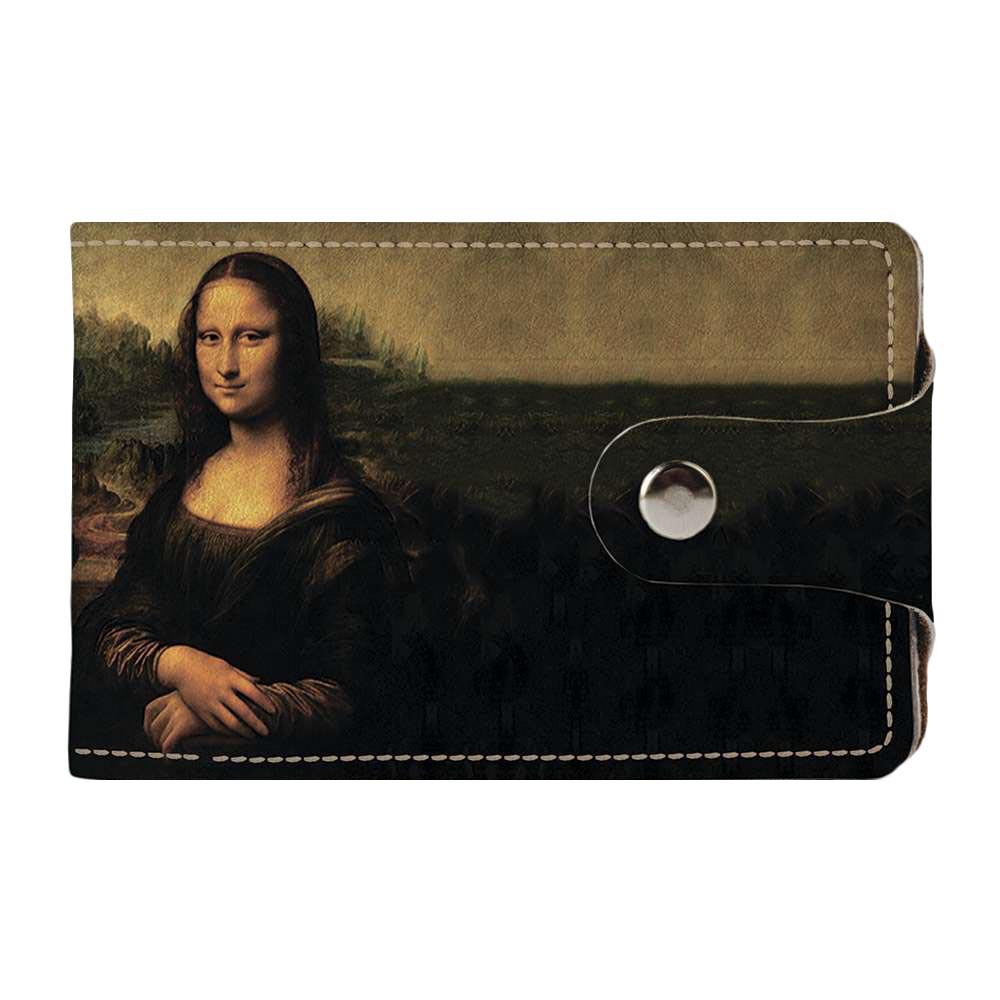 Визитница, картхолдер 2.0 Fisher Gifts 304 Мона Лиза. Леонардо да Винчи (эко-кожа)
