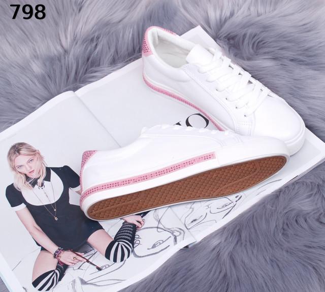 fe593b8e Женские белые кеды с розовым, цена 350 грн., купить в Днепре — Prom ...