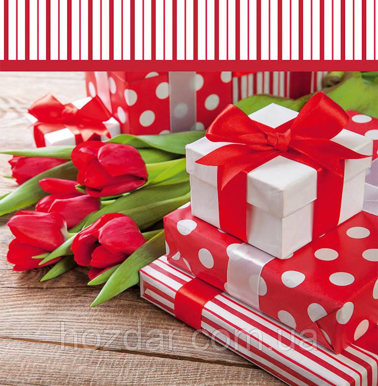 Пакет подарочный бумажный квадрат 23х24х10 (24-115)