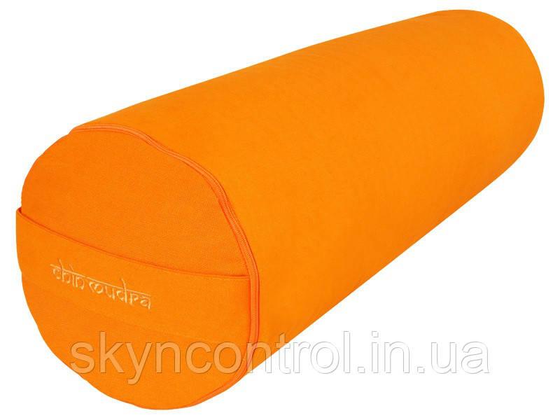 Валик chin-mudra для йоги 100% органический хлопок 65 см x 21 см - Оранжевый шафран