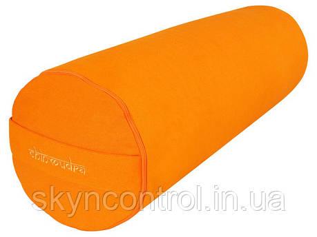 Валик chin-mudra для йоги 100% органический хлопок 65 см x 21 см - Оранжевый шафран, фото 2