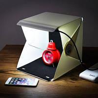 Лайтбокс, Фотобокс световой портативный, складной. Лайт Куб, Фото фон, Фото куб. Для предметной съемки