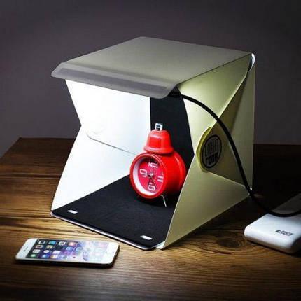 Лайтбокс, Фотобокс световой портативный, складной. Лайт Куб, Фото фон, Фото куб. Для предметной съемки, фото 2
