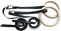 Кольца гимнастические Power System PS - 4048  Wooden Gymnastic Rings