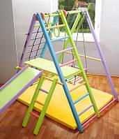 Детский спортивный уголок и горка Кроша цветная, горка, качеля, площадка
