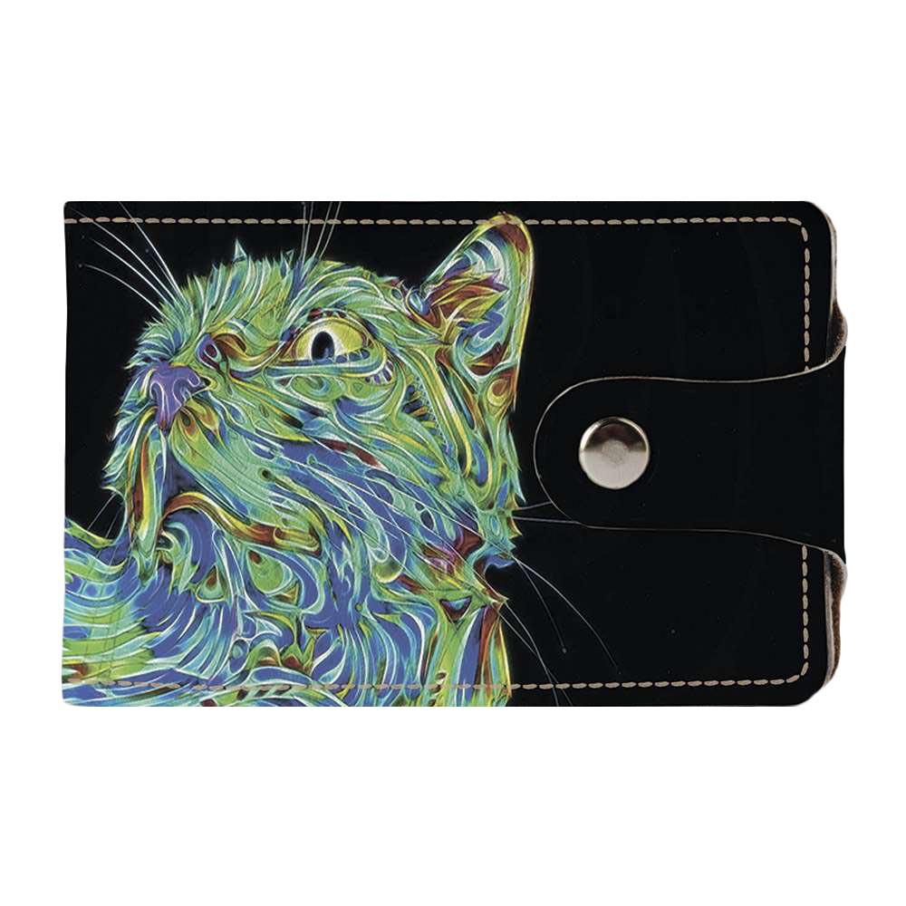 Визитница Fisher Gifts v.2.0. 449 Астральный кот (эко-кожа)