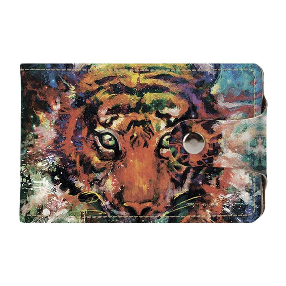 Визитница Fisher Gifts v.2.0. 447 Красочный тигр (эко-кожа)