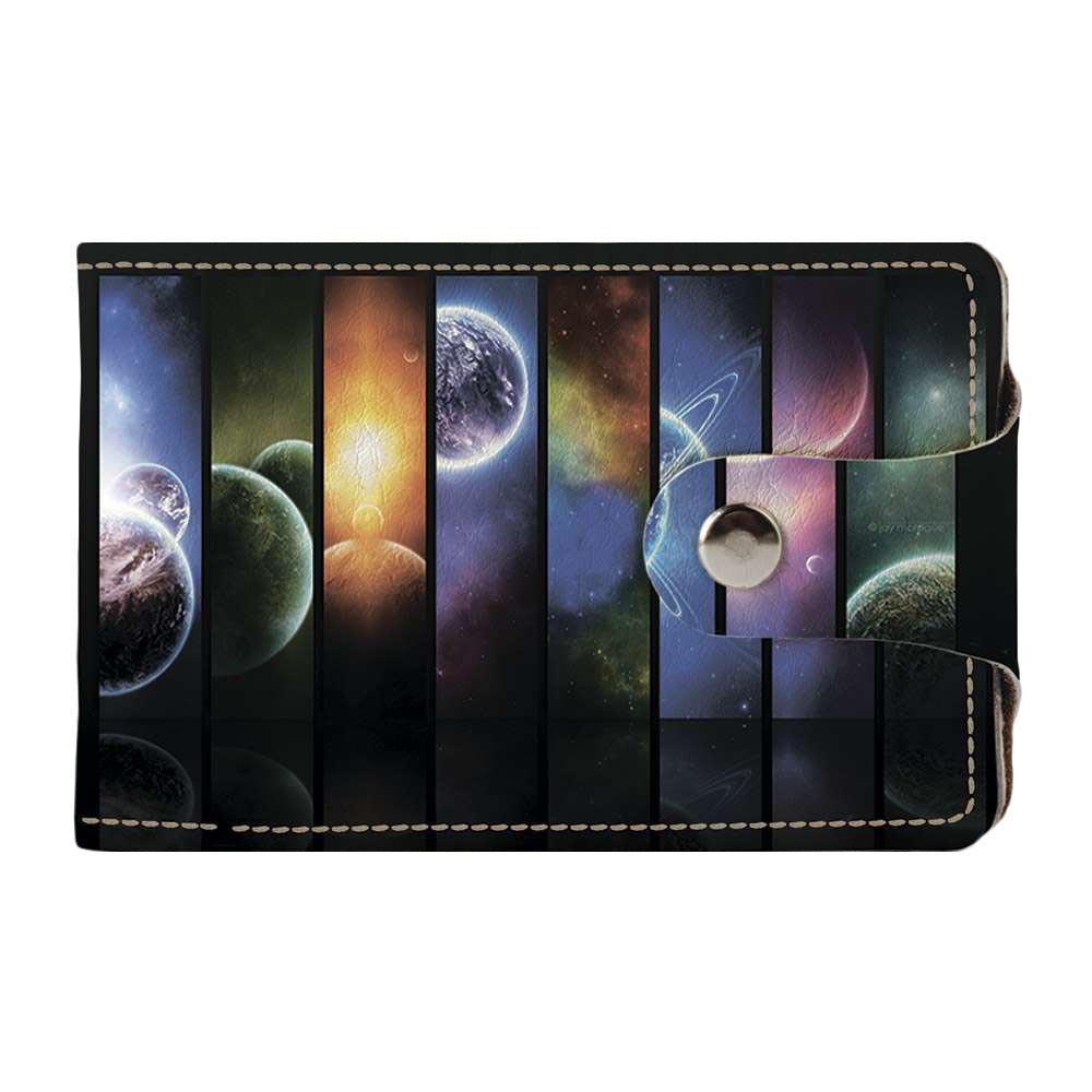 Визитница v.2.0. Fisher Gifts 513 Абстракция планет (эко-кожа)