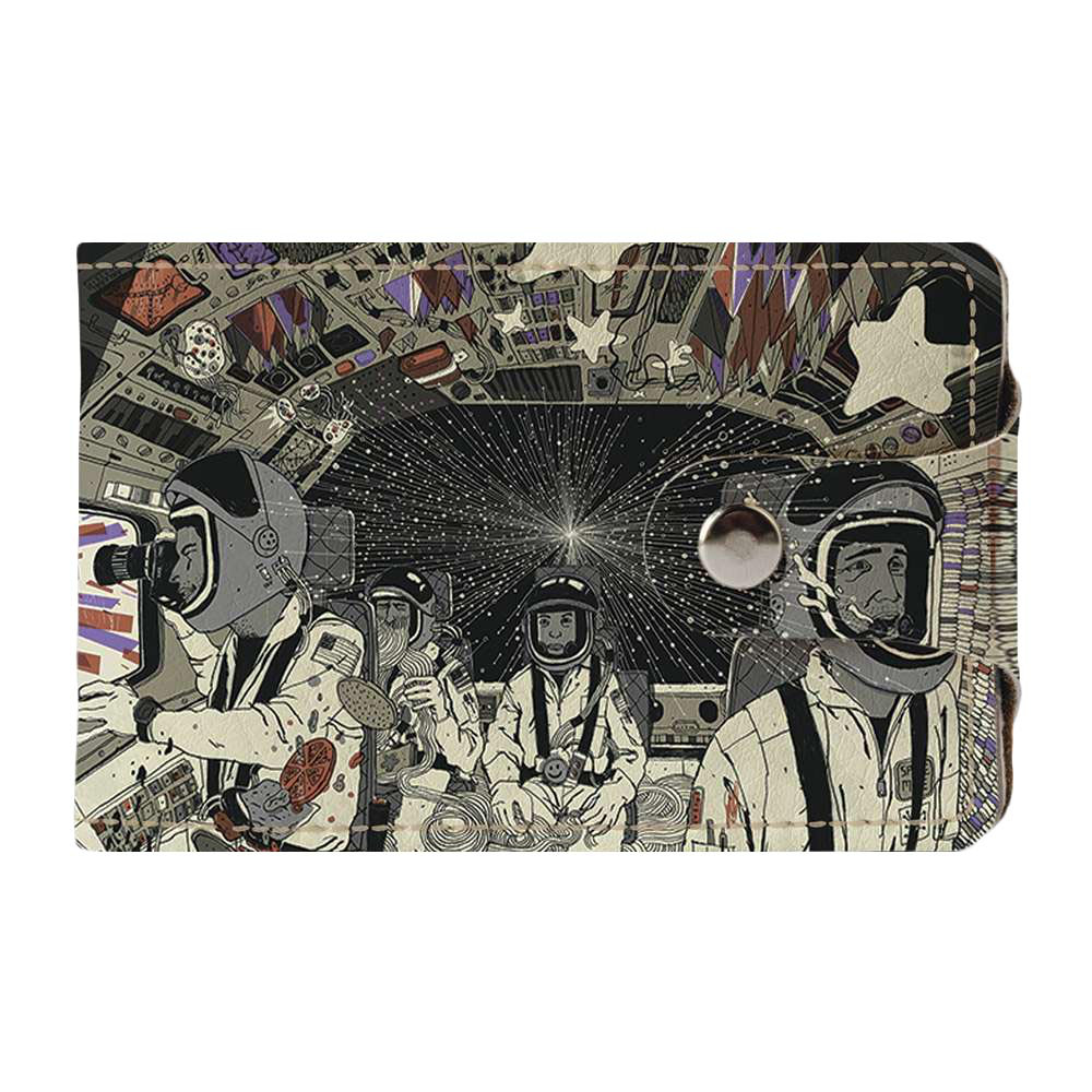 Визитница, картхолдер 2.0 Fisher Gifts 517 Космонавты. Поехали! (эко-кожа)